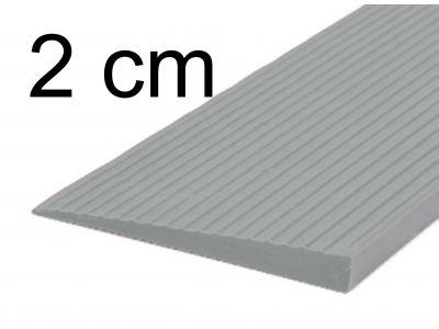 Türschwellenrampe 2 cm grau
