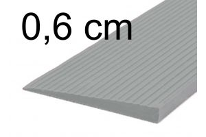 Türschwellenrampe 0,6 cm grau