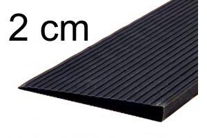 Türschwellenrampe 2 cm schwarz