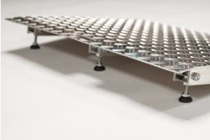 Aluminium-Türschwellenrampe höhenverstellbar 4,5 - 6,5 cm